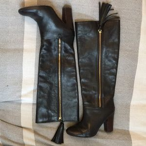 Coach black leather boots, 7